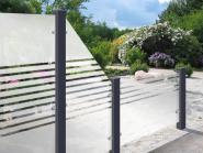 GrojaAmbiente Glas-Sichtschutzelement Waagrecht 180x90 Streifen