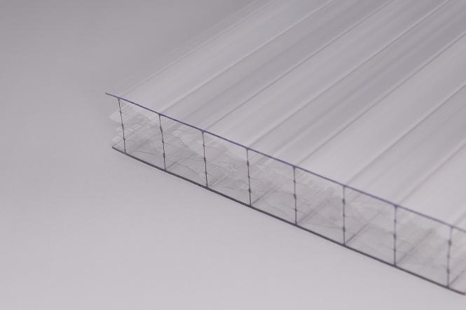 25 mm Stegplatten Polycarbonat glasklar