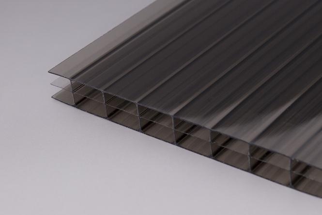 16 mm Stegdreifach-Platten Polycarbonat bronze