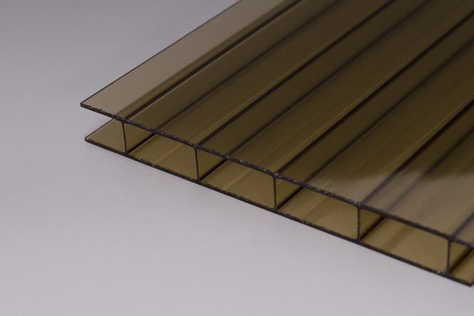 16 mm Stegplatten  aus Acrylglas 16/32 bronze
