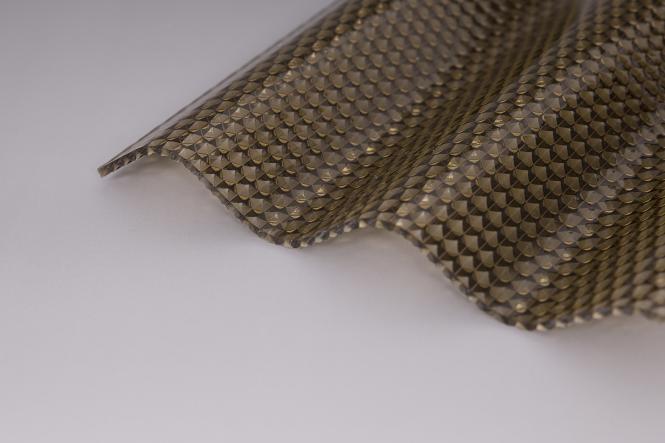 Acryl Sinuswelle 76/18 Wabenstruktur bronze