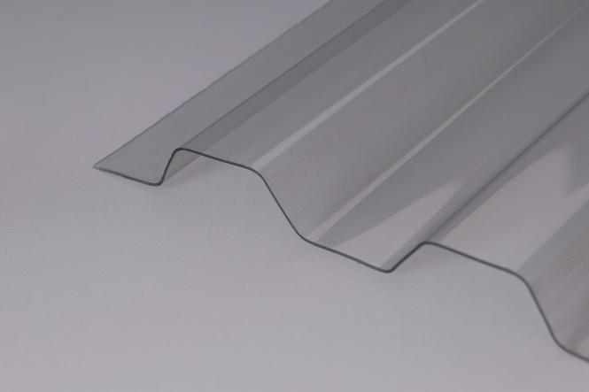 Lichtplatte Trapez 70/18 glasklar 1,2 mm