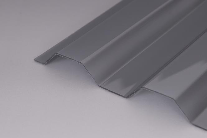 PC Trapez-Lichtplatten 76/18 silvergrey 1,0 mm