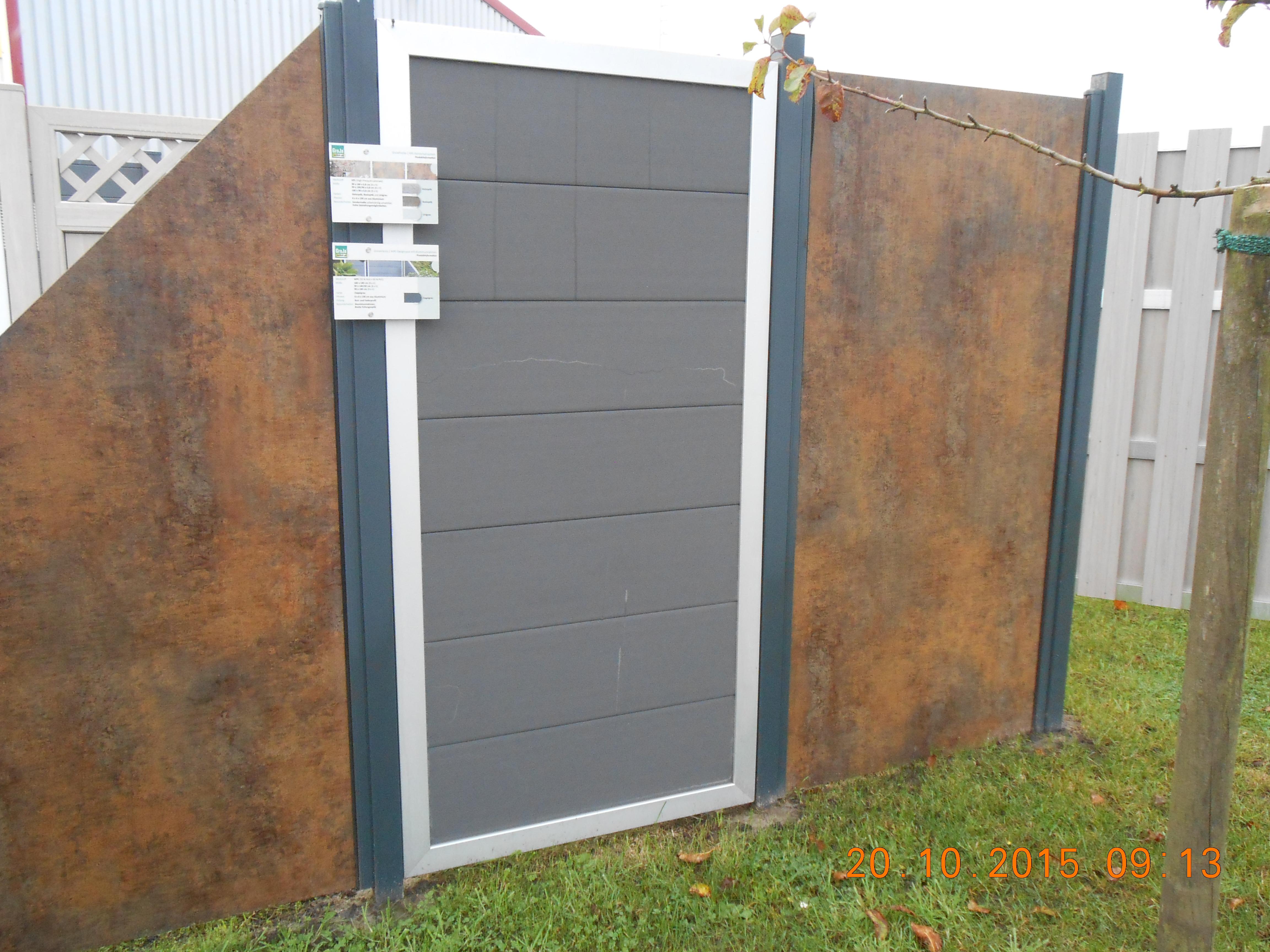 Grojapremo Hpl Sichtschutzelement Schrag 90x180 90 Rostoptik